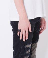 画像1: 【VIRGO】Big V leather ring レザーリング (1)
