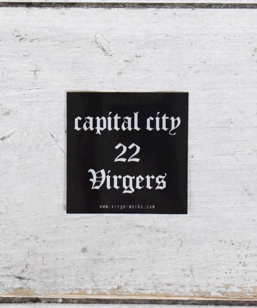 画像1: 【VIRGO】CAPITAL CITY 22 VIRGERS メタルステッカー  (1)