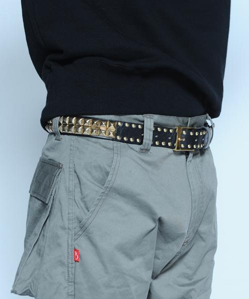 画像1:  【VIRGO】Mix studs belt スタッズベルト (1)