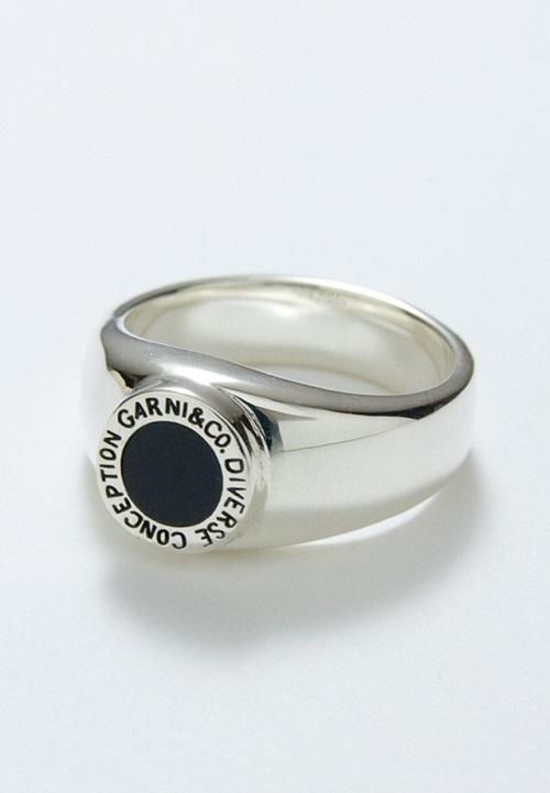 画像1: 【GARNI】Round Stone Ring - S   (1)
