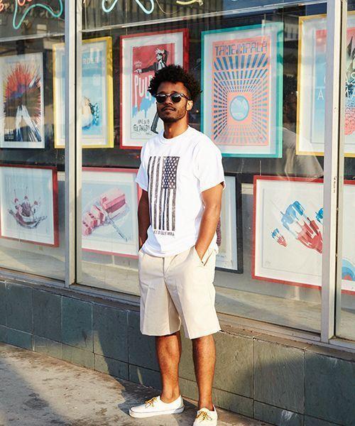 画像1: 【SALT&MUGS】STARS AND STRIPES T-SHIRTS プリントTシャツ (1)