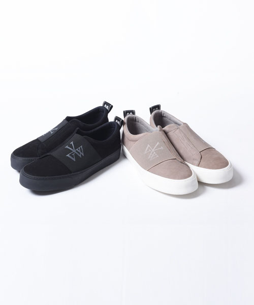 画像1: 【VIRGO】WIND RUBBER BELT SNEAKER レザースリッポン (1)