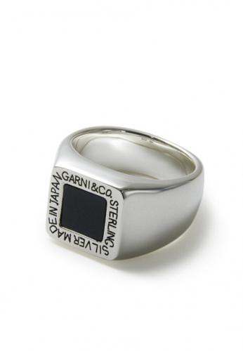画像1: 【GARNI】Square Onyx Ring (1)