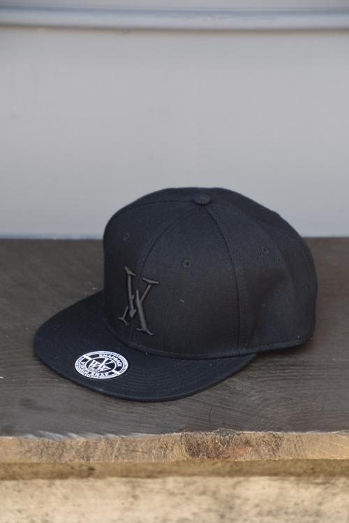 画像1: ※再入荷【VIRGO】Vg logo cap BLACK刺繍 / ベースボール キャップ (1)