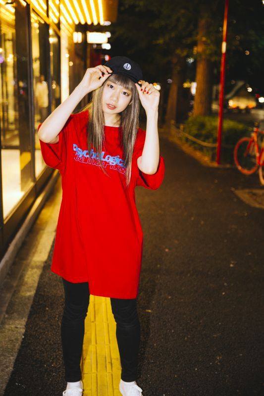 画像1: 【PSYCHOLOGICAL METAMORPHOSIS・PLMP】PLMP CARD TEE / RED (1)