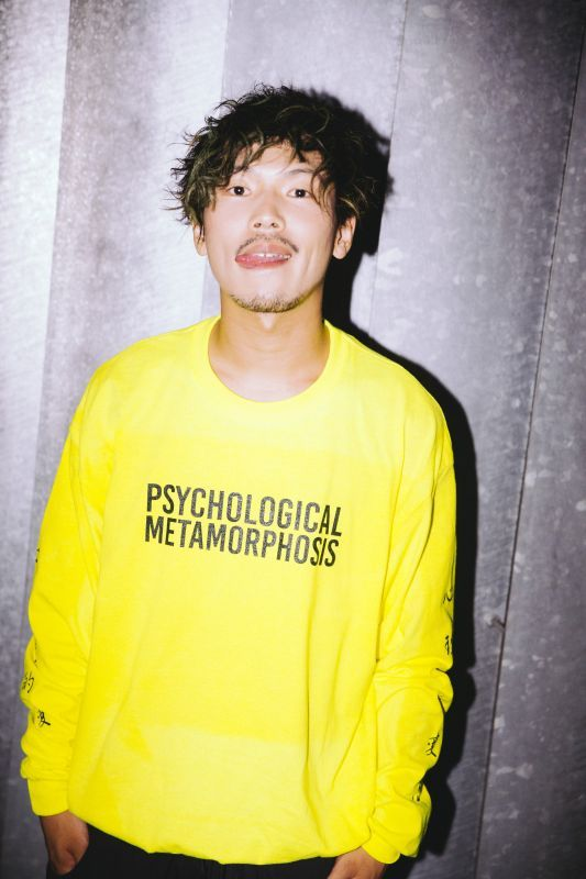 画像1: 【PSYCHOLOGICAL METAMORPHOSIS・PLMP】PLMP L/S LOGO 3 / YELLOW (1)
