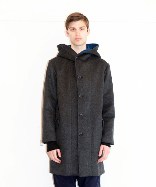 画像1: 【VIRGO】SNAILS WOOL HOODED COAT (1)