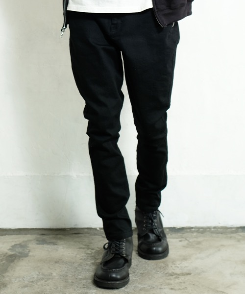 画像1: <再入荷>【女神織DENIMES×VIRGOwearworks】ZIP PKT DENIM BLK O/W  (1)