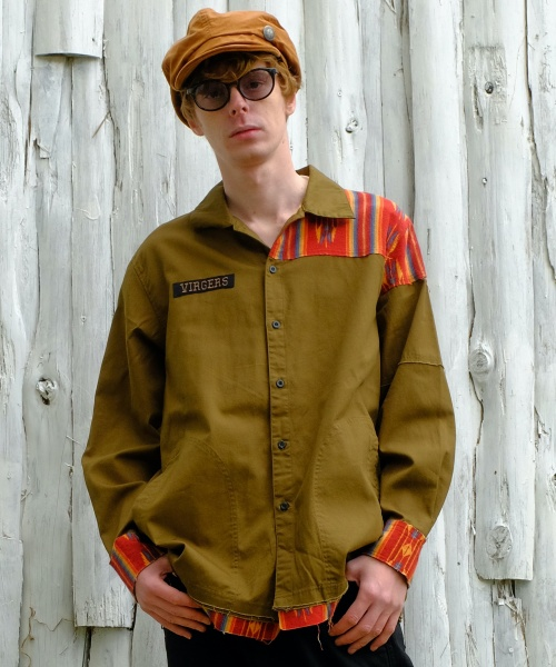 画像1: 【VIRGO】Native mix long shirts (1)